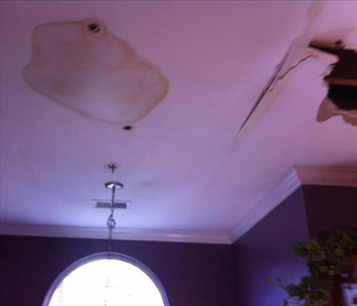 Water Damaged And Broken Ceiling